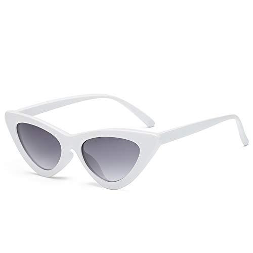 MOLUO Sonnenbrille Owl City Vintage Damen Sonnenbrille Cat eyeEyewear Retro Sunglass Female UV400 Sonnenbrille, K