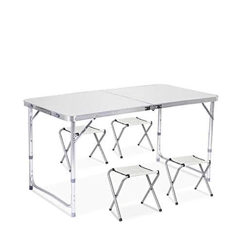 Sunreal Mesa de Camping Plegable de 122 cm, Altura Ajustable, Ultraligera, Durable,...