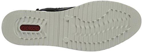 Rieker Y5513, Stivali Donna Blu (Marine/fumo/granit)