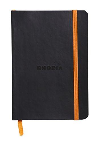 Rhodia Rhodiarama Carnet A6 144 pages 90 g Ligné Noir - 10.5 X 14.8 cm (Ref: 117302C)