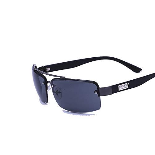 Polarisierte Sportbrille Sonnenbrille Fahrradbrill Herren Big Square Sport Fahrrad Reiten Sonnenbrillen klassische Sonnenbrillen, polarisierte Sonnenbrillen Herren und Frauen Retro Square Black HD Vis