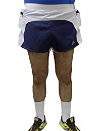 Acetone Solid Men's Running Shorts ( MSH 104- LUNGES - NAVY)