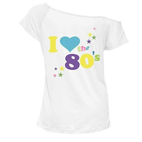 b4626a8d Womens I Love The 80s T Shirt Short Sleeves Ladies Retro Pop Star Tees Top  UK