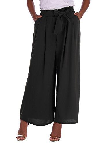 Abollria donna pantaloni eleganti a vita alta con cintura pantaloni larghi a palazzo per ufficio, per primavera estate autunno