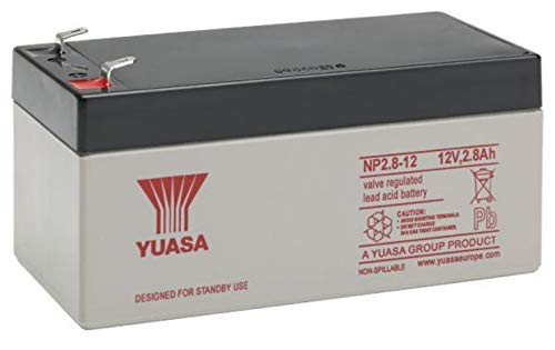 Yuasa - Batteria AGM Piombo NP2.8-12 12V 2.8Ah F4.8
