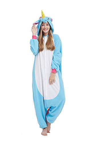 Casa Pyjama Tieroutfit Schlafanzug Tier Onesies Sleepsuit mit Kapuze Erwachsene Unisex Overall Halloween Kostüm ()