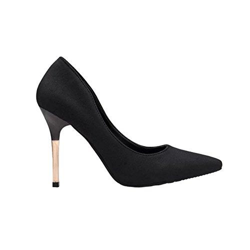 Chaussures de mode talons hauts femmes peu profondes de la bouche ont fait des talons hauts Black