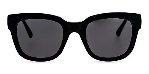 MessyWeeekend Liv- Vintage Inspirierte Dänische Designer Sonnenbrillen mit UV400 Schutz- Schwarz