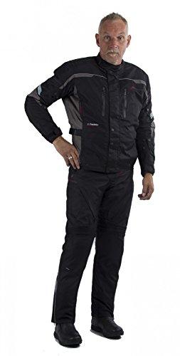 Motowear Motorradkombi P2 Textil - wasserdicht, atmungsaktiv schwarz XL