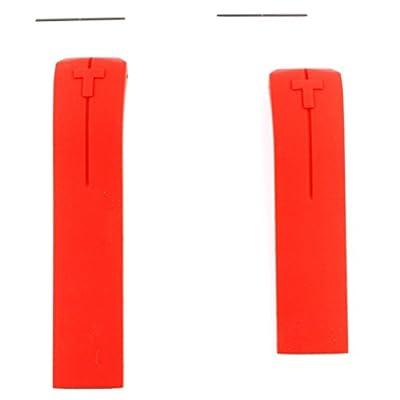 Correa silicona roja Tissot T-Touch II modelos T047420A 22mm T610035317