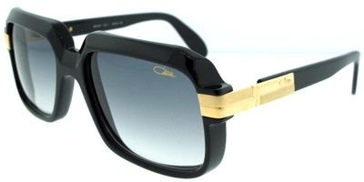 Cazal 607-001 SG Square Sunglasses,Black Frame Grey Gradient Lens,56 55d47aea9f3