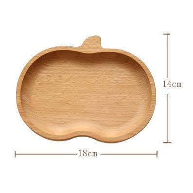 ZZSIccc Holzteller, Dessert Teller, westliches Essen, Backen, Küchenzubehör, japanische Art, Holzteller, Tablett Holz, B