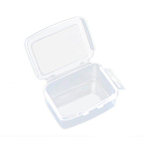 HOUSWEETY 6 Boites de Rangement pour Perles Transparent 73 x 55 x 29mm