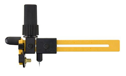 Olfa - taglierina a compasso rotante, colore giallo/nero