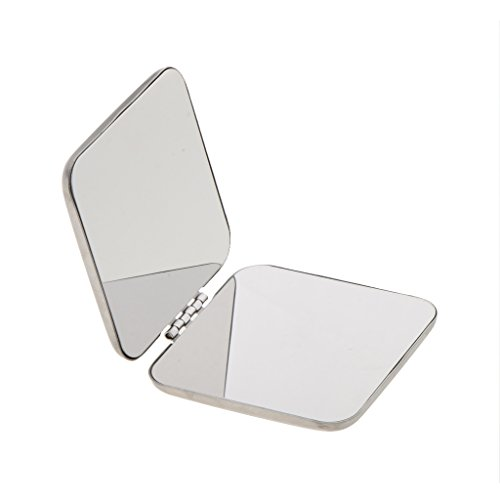 IPOTCH Make up Taschenspiegel Vergrößerungsspiegel Klappbarer Zweiseitiger Kosmetikspiegel Mini...