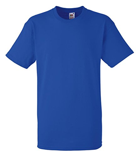 Fruit of the Loom Herren T-Shirt Heavy Cotton T Royal
