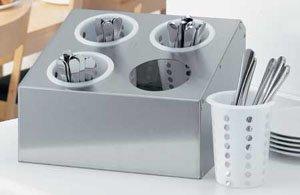 Preisvergleich Produktbild 1x Besteckbehälter für 4 Köcher Besteckständer,  Besteckkorb