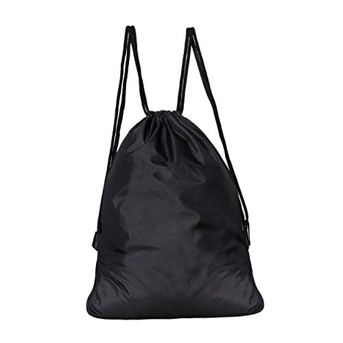 Best string bag in India 2020 DIVULGE Drawstring Bag Sports Bag Gym Bag and Multi Utility Bag (Black) Image 2