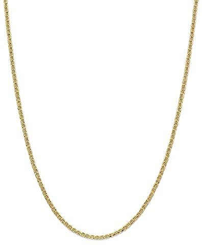 IceCarats 14k Yellow Gold 2.40mm Link Anchor Chain Necklace 24 Inch