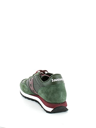 Saucony Jazz Original mixte adulte, suède, sneaker low Green/Burgundy