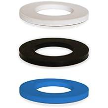soulbottle • Gummipack, Ersatzgummi, Naturkautschuk • 3er Pack verschiedene Farben (weiß, schwarz, blau)