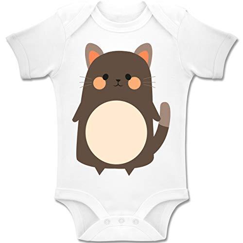 Weiße Kostüm Baby Katze - Shirtracer Karneval und Fasching Baby - Fasching Kostüm Katze - 18-24 Monate - Weiß - BZ10 - Baby Body Kurzarm Jungen Mädchen