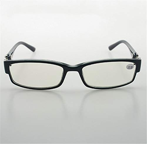 KOMNY Blu-ray Lesebrille Fashion Diamond Presbyopic Brille Full Frame Lesebrille Großhandel Männer und Frauen HD Anti-Fatigue-Brille, C + 100