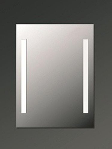 Preisvergleich Produktbild AS-Vertrieb Leuchtspiegel UNO-LED mit Edelstahl-Rahmen 100 x 80 cm