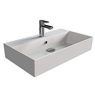 Aqua Bagno KS. 70Design Wash Basin/Counter Top Basin 70x42cm Ceramic White Wash Bowl