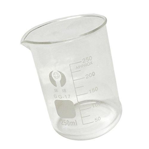FITYLE Messbecher Werkzeug, Transparente Glas Labor Messbecher - 100ml / 150ml / 250ml / 300ml / 400ml / 500ml - Klar, 250ml