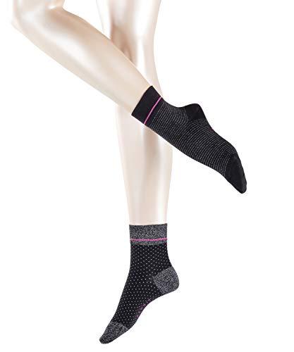 Esprit Damen Socken Nice Stripe & Dot 2er Pack 2 Paar - 72{2f6a42ebd7ef4865546ab6fb341426a37235a0f383af7c223263a16f2aae4b65} Baumwolle - schwarz - Größe 39-42 - Damensocken Frauensocken