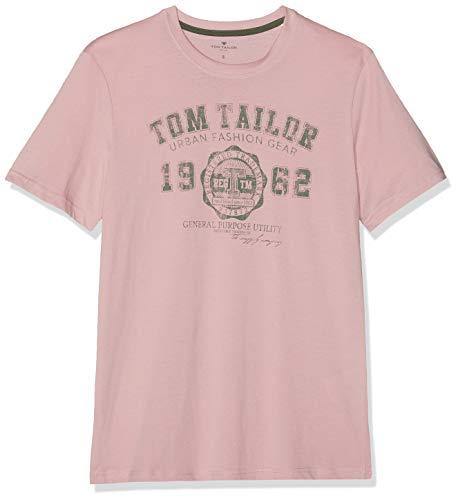 TOM TAILOR Casual Herren 1008637 T-Shirt Rosa (Morning Pink 11055), Herstellergröße: XX-Large