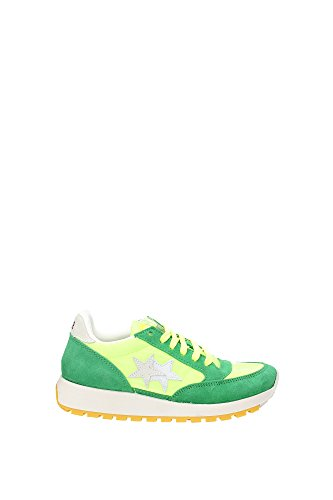 2SB717VERDINOVERDE 2Star Sneakers Femme Chamois Vert Vert