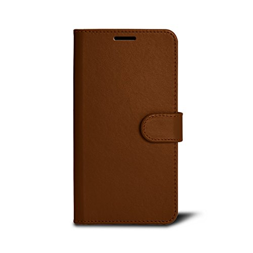 Lucrin - Schutzhülle für das iPhone 7 Plus - Rot - Glattleder Cognac