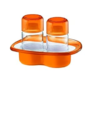 Fratelli Guzzini Spa Two Tone Salt Pepper Set Vintage, Orange from Fratelli Guzzini Spa