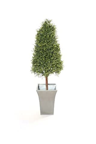 Closer2Nature Artificial 4ft Tea Tree Pyramid Topiary - Planter Not Included