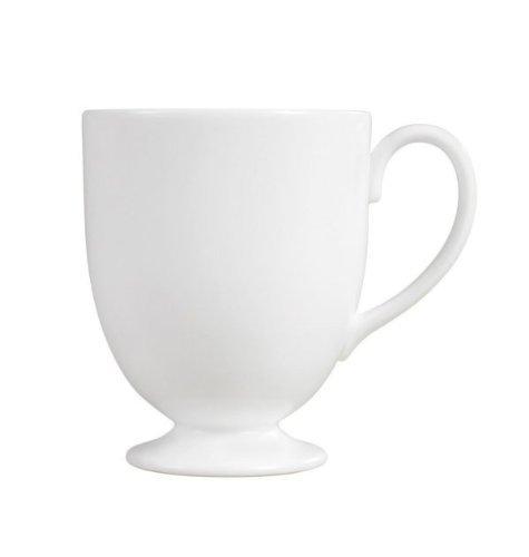 WEDGWOOD WHITEWARE WEDGWOOD WHITE: FOOTED MUG LEIGH by Wedgwood China White-footed Mug