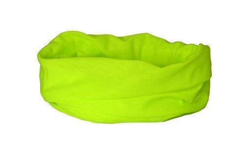Ruffnek scaldacollo giallo fluorescente / sciarpa multifunzionale - sicuramente visto, riflettente, taglia unica - unisex