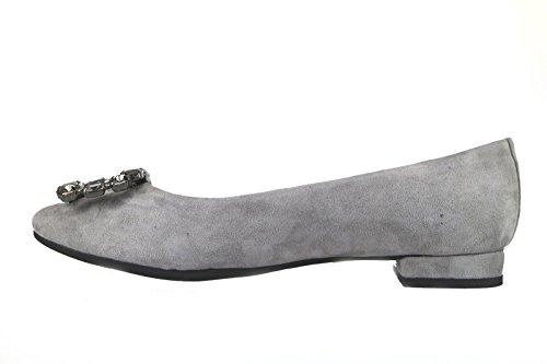 EMANUELLE VEE ballerine donna camoscio nero grigio Grigio
