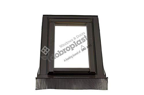 AFG Skylight Premium Dachfenster PVC 55 x 118 mit Eindeckrahmen Schwingfenster Dachflächenfenster