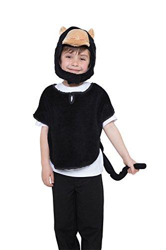 Bristol Novelty CF053 Tabardo de Mono con capucha y cola, Pequeño, 4-7 años