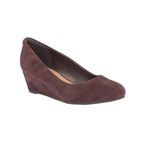 Clarks Habillé Femme Chaussures Vendra Bloom En Daim Violet