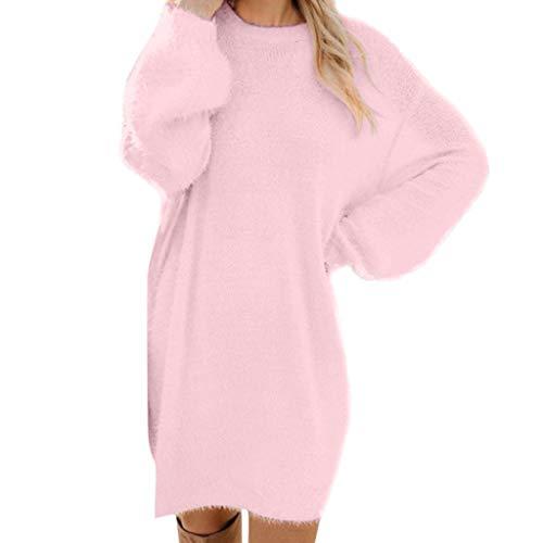 Fascino-M Maglioni Dolcevita Donna Casual Manica Lunga Maglione- Manica Maglione Vestito Autunno Inverno Lungo Collo Alto Vestiti Casual Lunga Tops Pullover Donna Felpe Moda Sottile Sweater