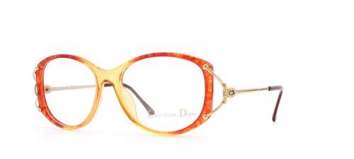 Christian Dior Damen Brillengestell Rot Rot/goldfarben