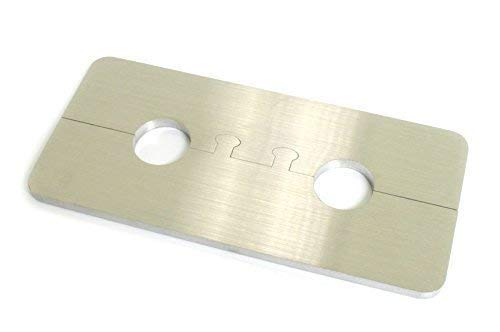 DUB SPENCER Exklusive Edelstahl Heizkörper Rosette Eckig Doppelrosette für HEIZUNG (Rohrdurchmesser: 16mm) -