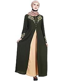 TAAMBAB Femmes Maxi Robe Longue Abaya Caftan Marocain - Kimonos Manches  Longues Jilbab Kaftan Islamique Musulman Arabe Robe Dubaï… 9c4dbebc7d5