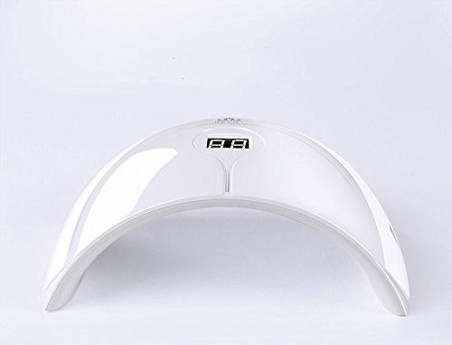 36W White Smart Nagel Lampe Behandlung Maschine Nagel Lampe Trockner Nagellack Kleber LED Lampe Behandlung Lampe Back Lamp Tools - LCD-Monitor ( Größe : 1*36W smart nail machine+LCD screen )