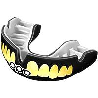 OPRO Power-Fit Mouthguard | Protector de Goma para Rugby, Hockey, MMA (10 años o más) - (Dientes - Oro/Negro)