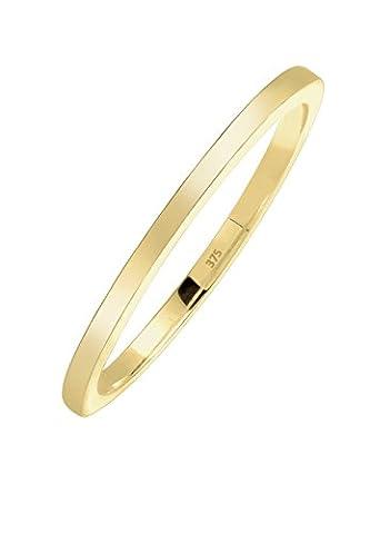 Elli Premium Damen-Ring Basic 375 Gelbgold Gr. 54 (17.2) - 0608731315_54 (9 Ct Goldringe)