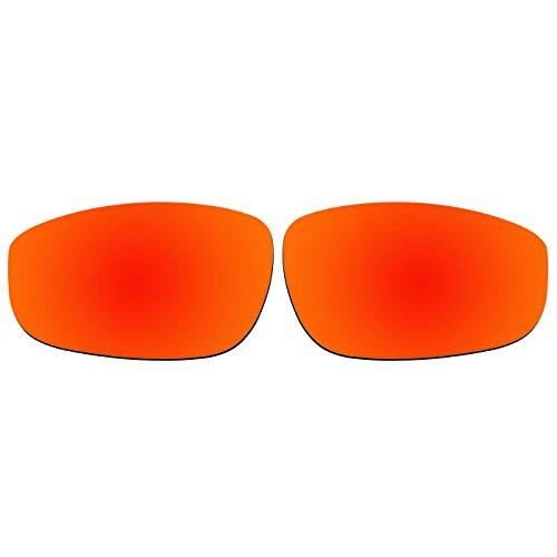 aCompatible Ersatzgläser für Oakley Fives 4.0 Sonnenbrille, Fire Red Mirror - Polarized, S